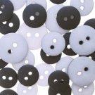 Bazzill grey monochromatic buttons by Junkitz