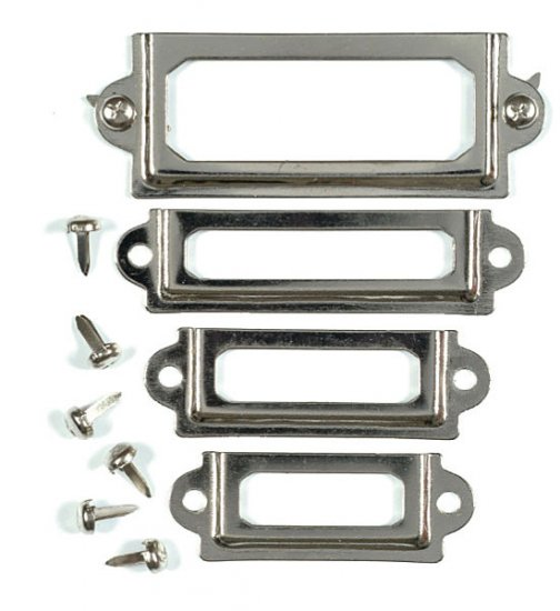 Junkitz Tim Holtz Metalz mini platez - dull silver