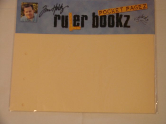 Junkitz Tim Holtz Ruler Bookz pocket pagez 11x9