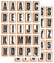 Junkitz  Candice Cook transparency alphabet stickerz - orange