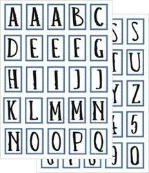 Junkitz  transparency alphabet stickerz - blue