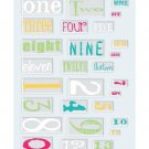 Junkitz  epoxy stickers numbers - color