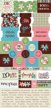 Junkitz  Fanci-ful cardstock stickers
