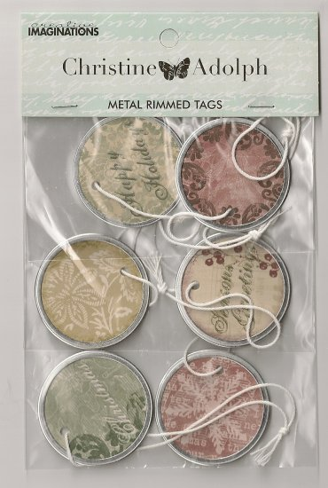 Creative Imaginations - Christine Aldolph Metal Rimmed tags