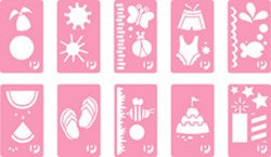 Pebbles Inc. stencils - summer