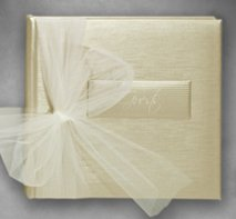 bound+determined m/bellishments 8x8 Gold Silk Guestbook