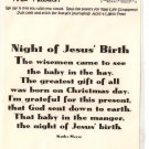 Real Rhyme and Reason - night of jesus' birth