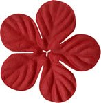 """Bazzill Paper Flowers 1.75"""" -tropical ruby slipper"""