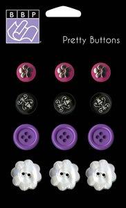 Bazzill Basics Jaybird Street Collection buttons (NEW RELEASE)
