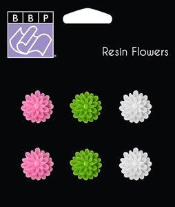 Bazzill Basics Jaybird Street Collection resin flowers (NEW RELEASE)
