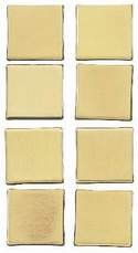 EK Success Sticko Architexture Building Embellishments - Metal Brass Square Tile