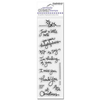 Stampendous christmas sayings perfectly clear stamps