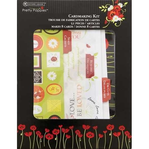 Autumn Leaves Pretty Poppies 52pc cardmaking kit