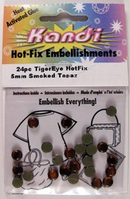 Kandi Hot-fix Embellishments - Lorna Tiger Eye Hotfix