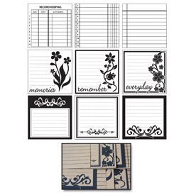 Maya Road Kraft Journaling Tags - Scrolls