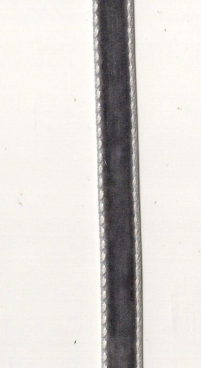 """Maya Road Double Stitched 3/8"""" slate velvet ribbon"""