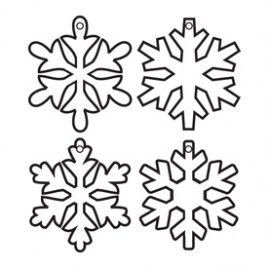 Maya Road Acrylic Snowflake keychain
