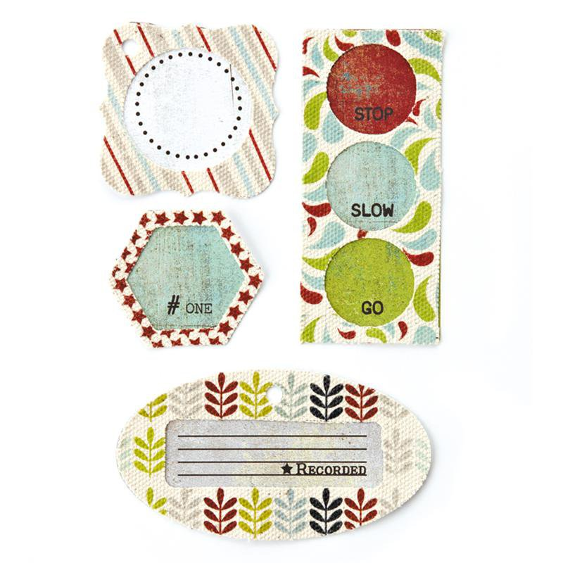 Basic Grey Oliver Collection - Canvas Tags
