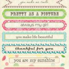Webster's Pages Girl Land sentiment stickers