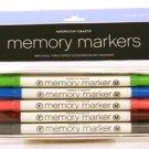 American Crafts Memory Marker 5-pack color set #4