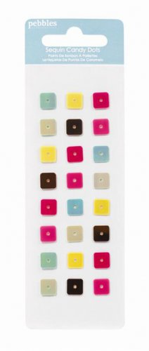Pebbles Inc. hip hip hooray candy dots - square sequins
