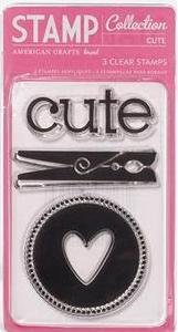 American Crafts small single stamp set - cute