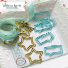 Webster's Pages Paperclips Bubble and Star