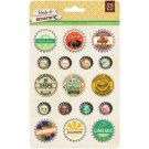 Basic Grey Herbs & Honey Bottlecap Stickers