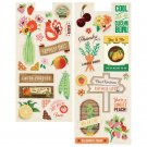Basic Grey Herbs & Honey Printed Self-Adhesive Chipboard