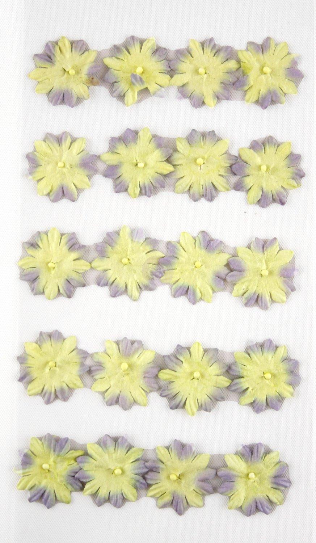 Prima Marketing Inc. - Artist's Aids Mini Flower Yellow and Purple