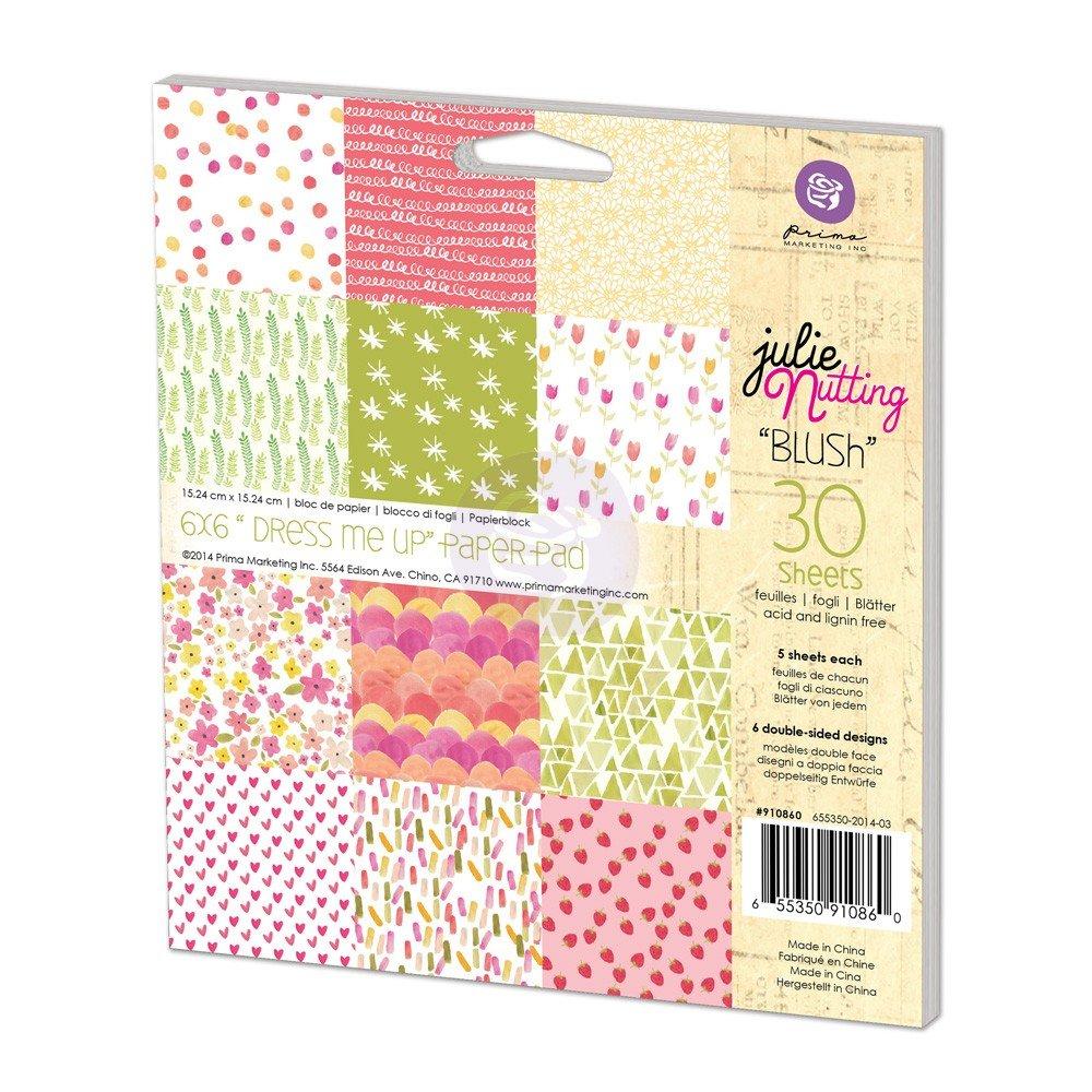 Prima Marketing Inc . - Julie Nutting - Dress Me Up Blush 6x6 pad