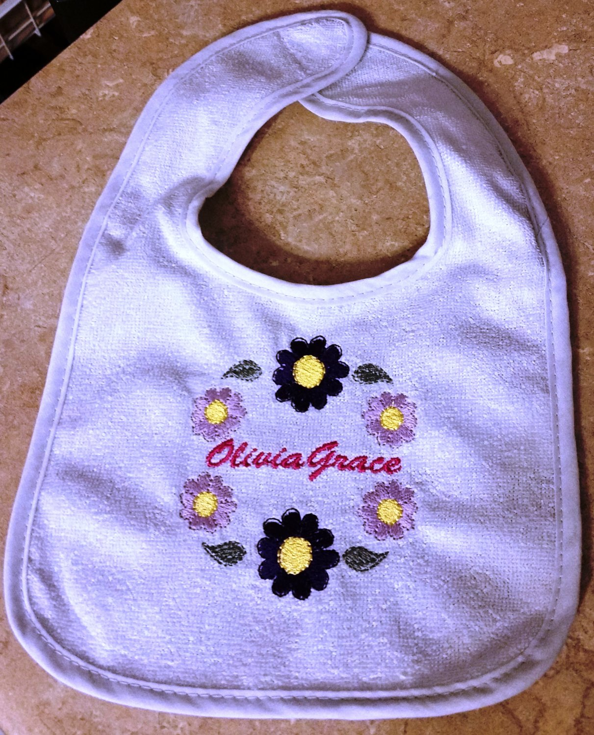 Baby Gift - Embroidered bib