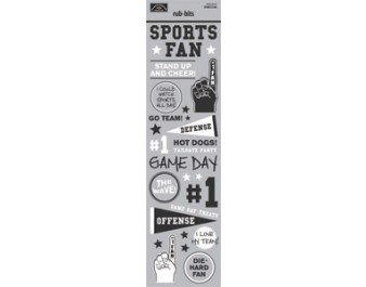 Karen Foster Design - Rugby Collection Sports Fan - Rub-Bits
