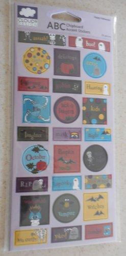 Fiskars - Cloud 9 Design Happy Halloween ABC Chipboard Accent Stickers