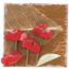 Mrs. Grossman's Natural Art Stickers Red Flower With Leaves