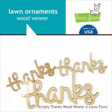 Lawn Fawn Lawn Ornaments - Scripty Lawn Ornaments Wood Veneer