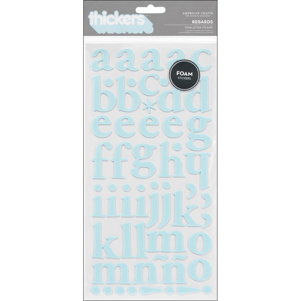 American Crafts thickers Regards - Powder Blue