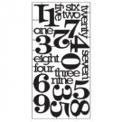"Tim Holtz - Idea-Ology Alpha Numeric Parts .625"" To 2"" 23/Pkg"