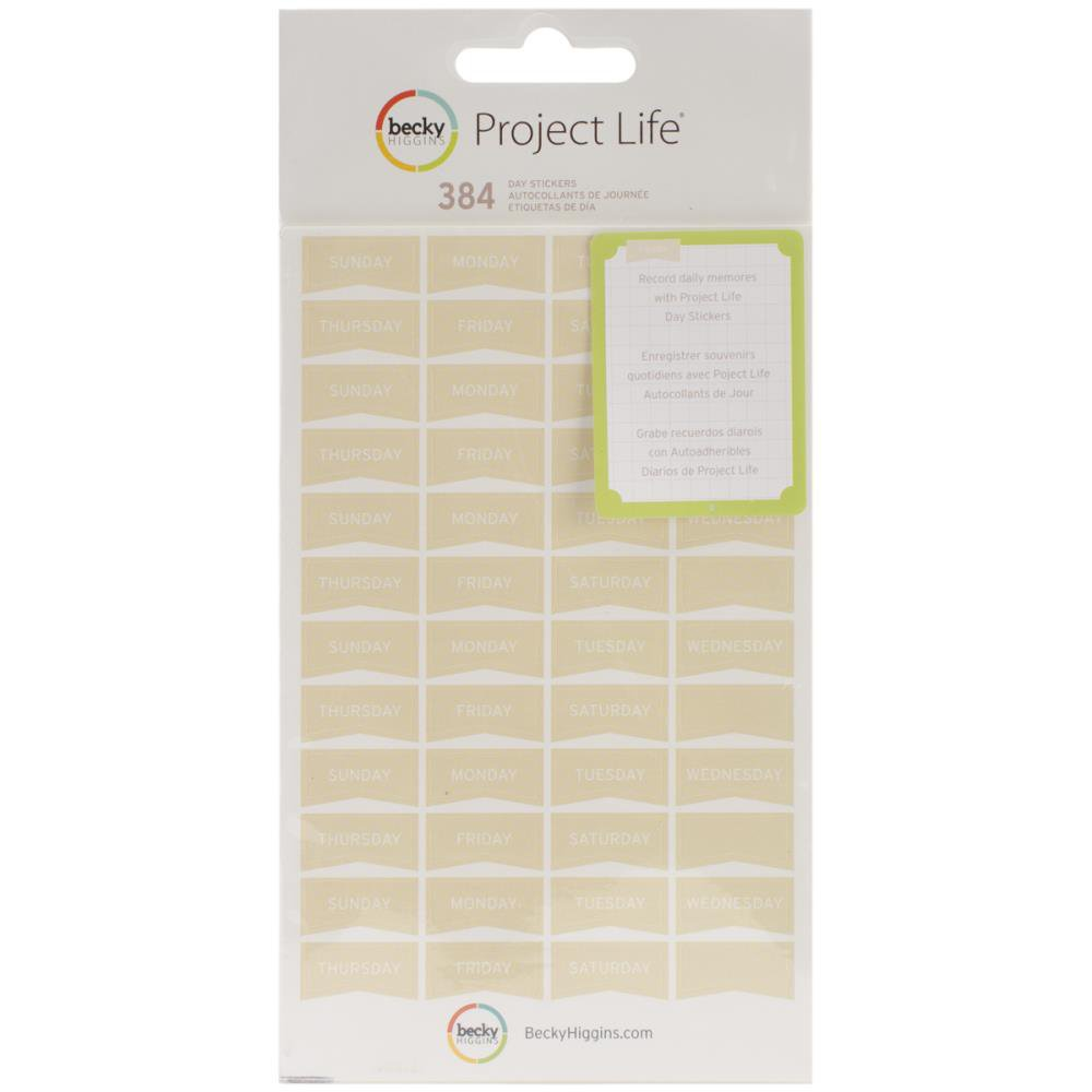 AMERICAN CRAFTS-Project Life Collection: Sticker Sheets - Day Tan