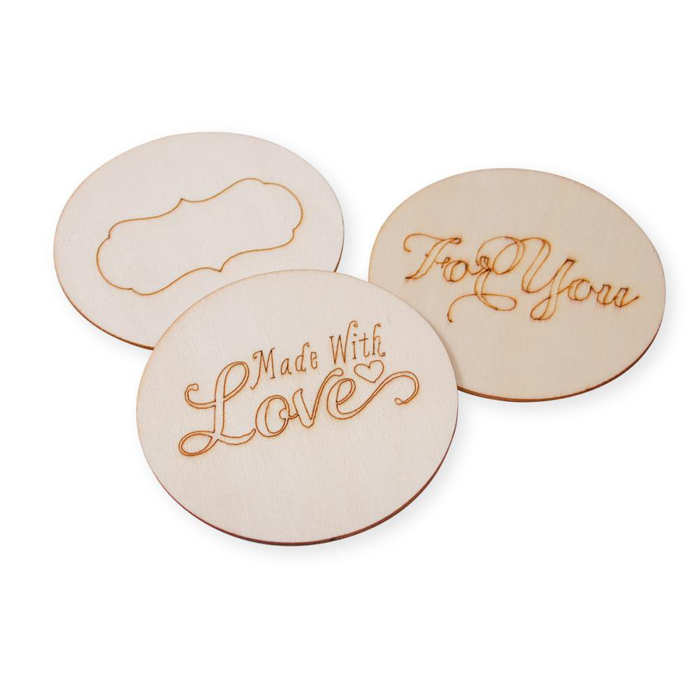 Cosmo Cricket-Show Toppers Jar Lid Set: Burned Wood