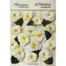 Petaloo Botanical Collection - Vintage Velvet Pansies white