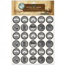 "Bottle Cap Inc Vintage Bottle Cap Images 1"" 65/Pkg - chalk art mustache"