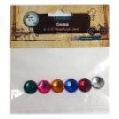 "Bottle Cap Inc Vintage Edition Gems, 1/2"" Mixed Acrylic 6pcs"