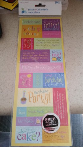 Momenta Birthday Embossed Messages - Birthday Wishes - Stickers