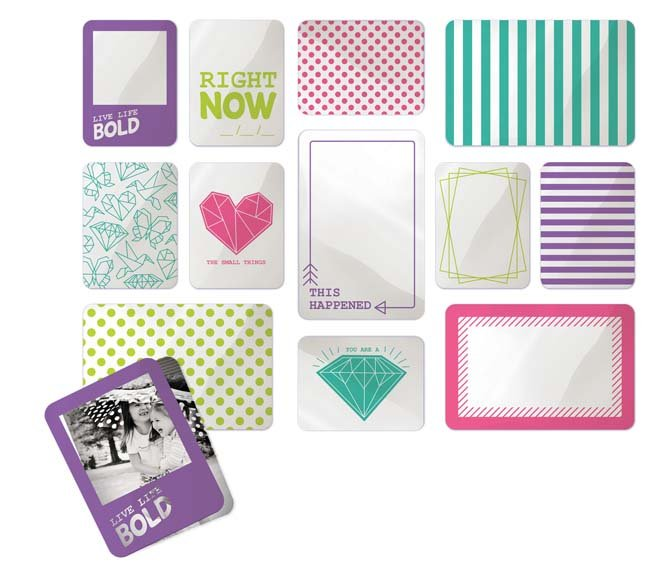 We R Memory Keepers - Albums made easy - clearly bold - journaling cards acetate