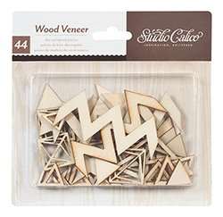 Studio Calico Wood Veneer Triangles and Diamonds