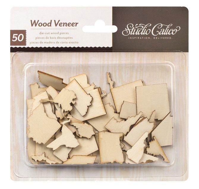 Studio Calico Wood Veneer That-a-way US States