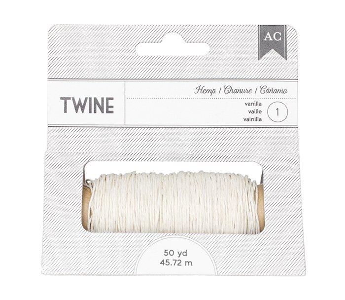 American Crafts - Hemp Twine - Vanilla