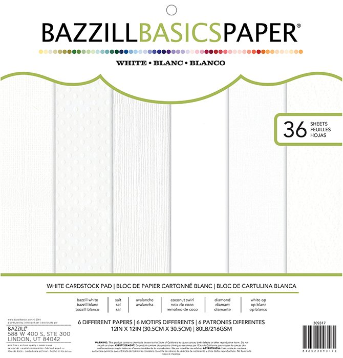 Bazzill Basics - 12x12 Specialty Paper - white