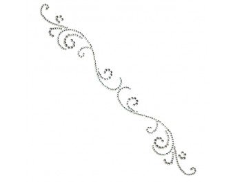 Want2Scrap Say it with Pearls swirls finesse rhinestone- silver